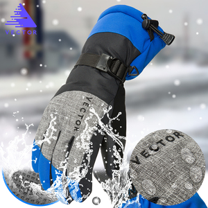 Image 3 - 余分な厚い Pu スキー手袋冬の雪の屋外スポーツレディースメンズウォームスノーモービルモーターサイクル防風防水スノーボード