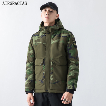AIRGRACIAS 2019 New Winter Military Parkas Men's Jacket High Quality Man Coat Hooded  Male Clothing Casual Men's Brand Clothing