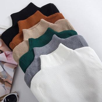Women's Sweater Women Slim Turtleneck Sweater Knitted Elastic Jumper New-coming Autumn Winter Turtleneck Pullovers кофта женская