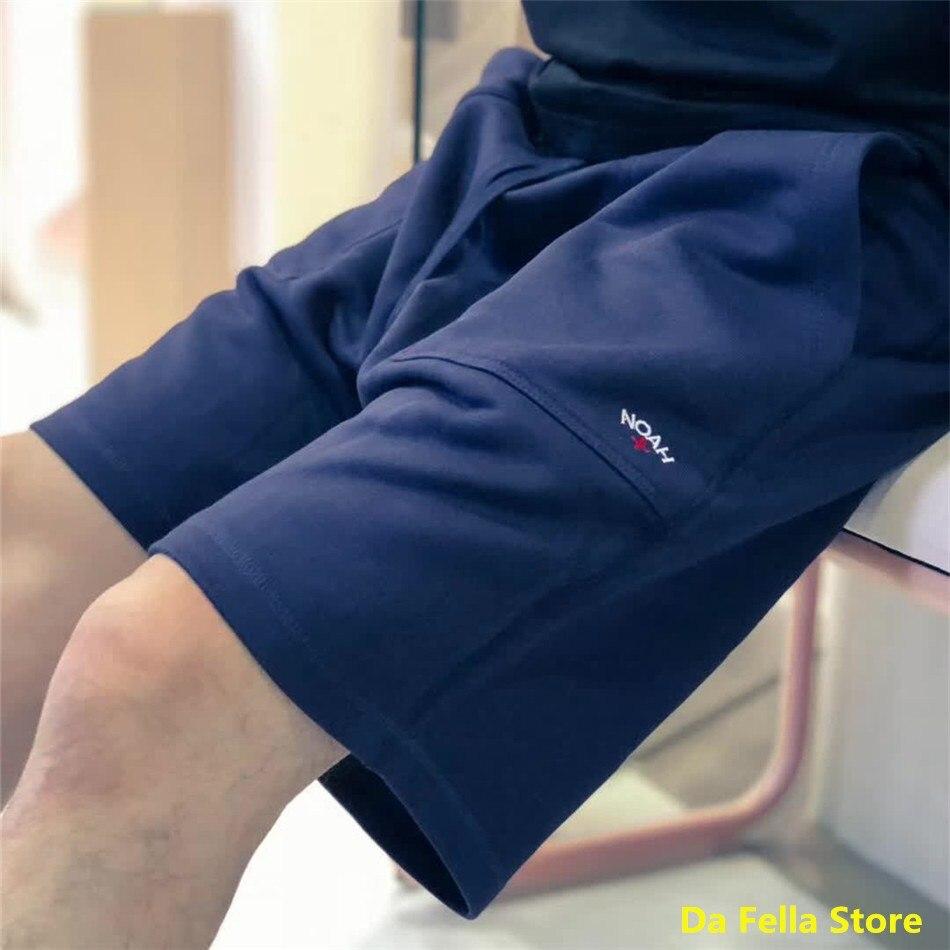 NOAH Shorts Embroidered Cross Noah Shorts 2020 Men Women 1:1 Version High Quality Casual Breechcloth Zipper Pocket Terry