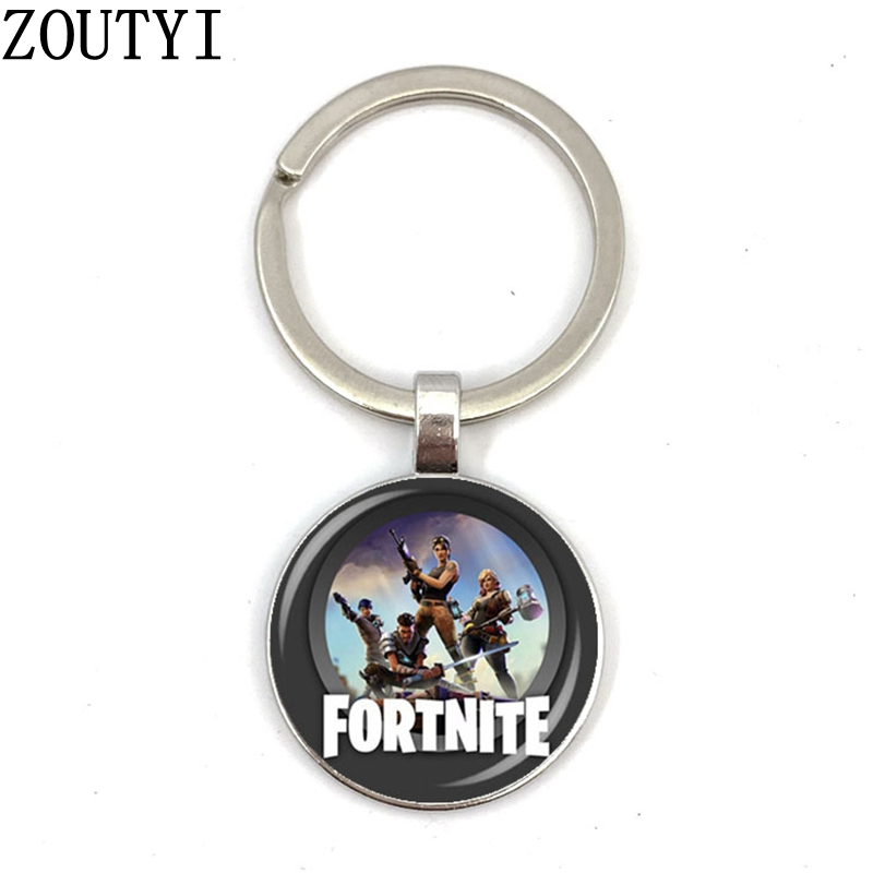 New/Charming Fortress Night, Men's And Women's Keychain Premium Car Keychain And Convex Glass Keychain.