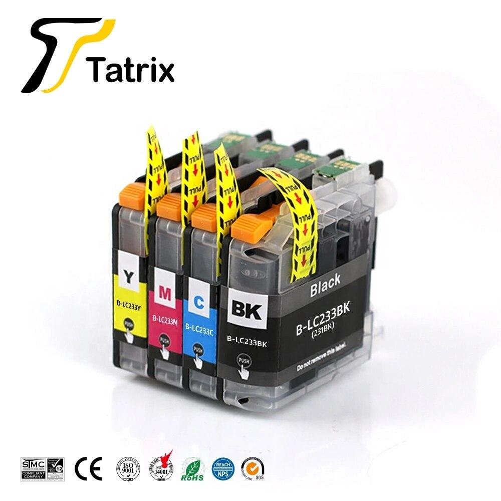Чернильный картридж Tatrix LC231 LC233 для принтера, совместимый с цветами, для Brother MFC-J5720/J4120/ J4620/J5320/ DCP-J562DW/MFCJ480DW