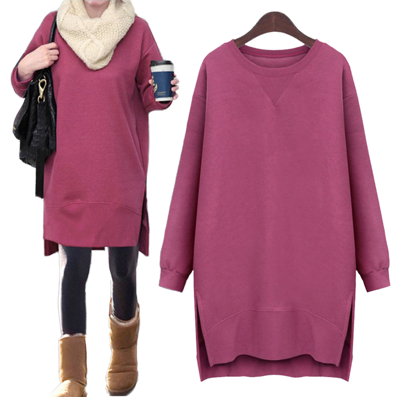 Autumn Winter Long Sleeve Solid Color Dresses Autumn Maternity Knitted Cotton Pregnant Clothes Dresses For Pregnancy Woman