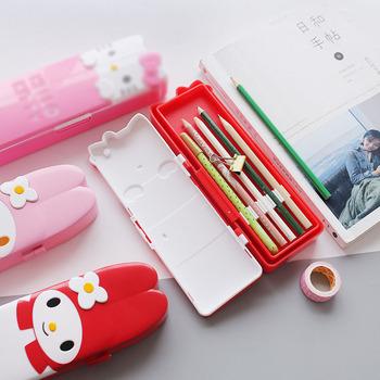 6 sztuk partia Kawaii różowy kot piórnik kreatywny piórnik biurowe etui pióro torba chłopiec dziewczyna prezent biuro szkolne tanie i dobre opinie QinYuZu CN (pochodzenie) torba na ołówki Szkoły i biura 22*7*3cm LU042 pencil case Z tworzywa sztucznego