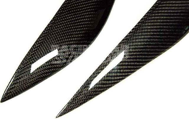 Carbon Fiber Eyebrows Eyelids for Mercedes Benz W204 C180 C200 C300 C350 C63 2008-2011  M099E 4