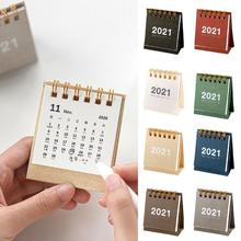 2021 Simple Black White Desk Coil Calendar Mini Daily Agenda Table Office Yearly Planner Supplies 2021 Organizer Schedule S C8B1