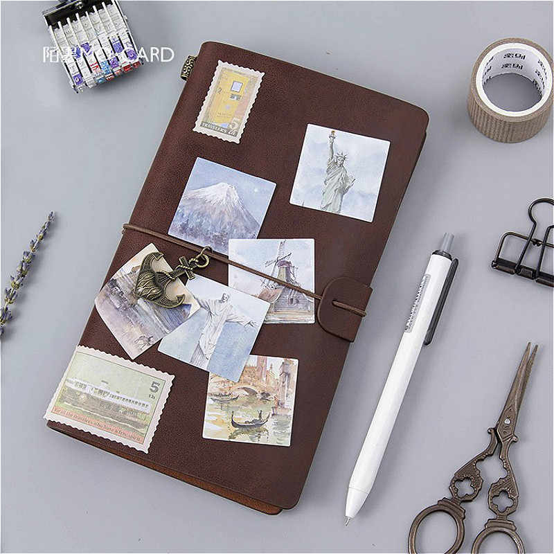 1pcs LOVELY Travel Round The World เครื่องเขียนสติกเกอร์ Planet กระดาษ Shine Creative สติกเกอร์ตกแต่งไดอารี่ Scrapbooking
