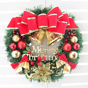 Image 3 - 30cm Christmas Wreath Door Hanging Christmas Decorations Simulation Flowers Window Props Background Christmas Tree Accessories