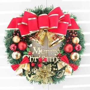Image 3 - Couronne de noël, 30cm, décorations florales suspendues pour noël, accessoires pour sapin de noël