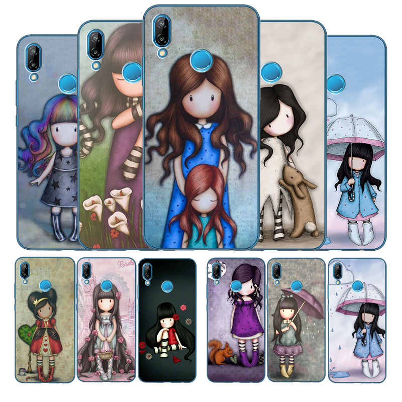 Cartoon Lovely Santoro Gorjuss Coque TPU Soft Silicone Phone Case For Huawei P10 P20 P30 Lite Plus Pro P smart Y5 Y6 Y7Prime(China)