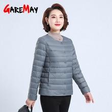 Down-Jacket Parka Short White-Duck-Down Autumn Plus-Size Winter Women Ladies Warm Slim
