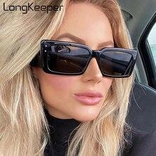 Longkeeper Винтажные Солнцезащитные очки с квадратными линзами
