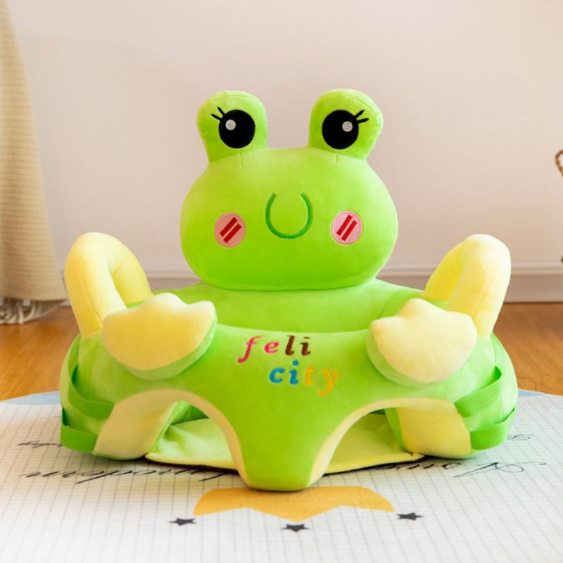 Sofa Support Seat Cover Baby Plush Chair Cartoon Cute Toddlers Sofa Covers Anti-fall Chair Baby Early Education Gift No Filler