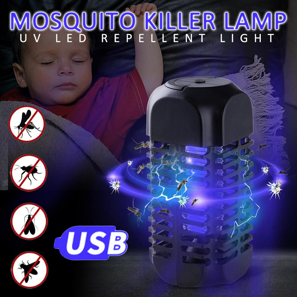 LED Mosquito Killer Lamp Portable Electric Shock Outdoor Indoor Energy Saving Bug Fly Trap Anti Insect Trap Lamps