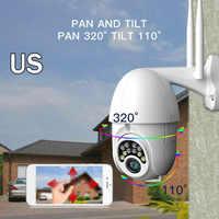 1080P HD IP CCTV caméra étanche extérieure WIFI PTZ sécurité sans fil ue prise américaine vue à distance sur l'écran du téléphone ou de la table