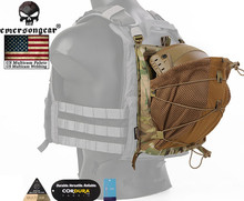 LXB Style Bungee Helmet Back Pack For 420 Vest Hunting Airsoft Paintball Helmet Backpack Storage Bag Dustproof Cover Gift
