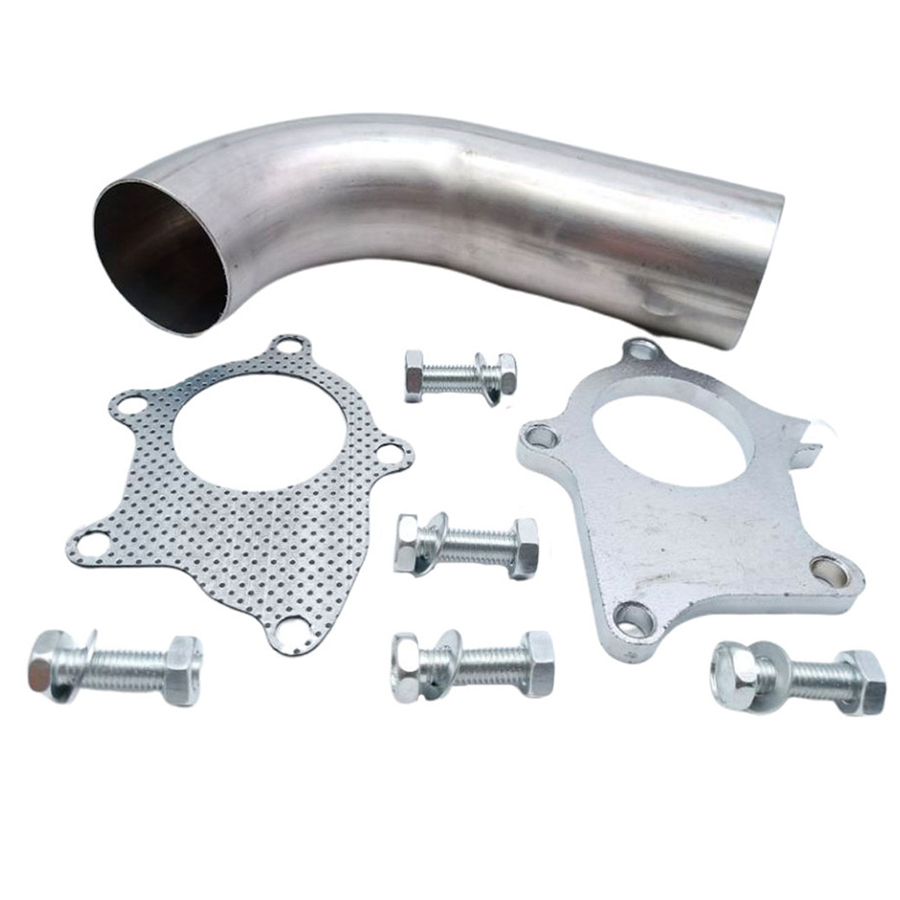"""2.5/"""" OD 90 Degree Elbow Stainless Steel Exhaust Turbo Downpipe Charge Pipe"""
