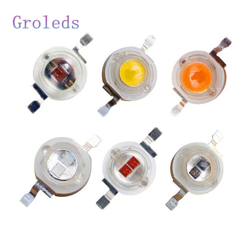 Groleds светодиодный Диод 3 Вт светодиодный чип 3 Вт 5 Вт высокомощный Светодиодный УФ ИК чип Мощные светодиоды DIY лампа для эпиляции Epistar чип