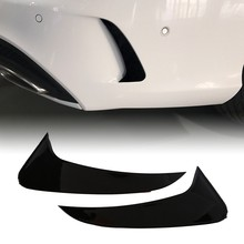 Bright Black Rear Bumper Spoiler Side Canards for Mercedes-Benz C-Class Estate S205 C180 C200 AMG(China)