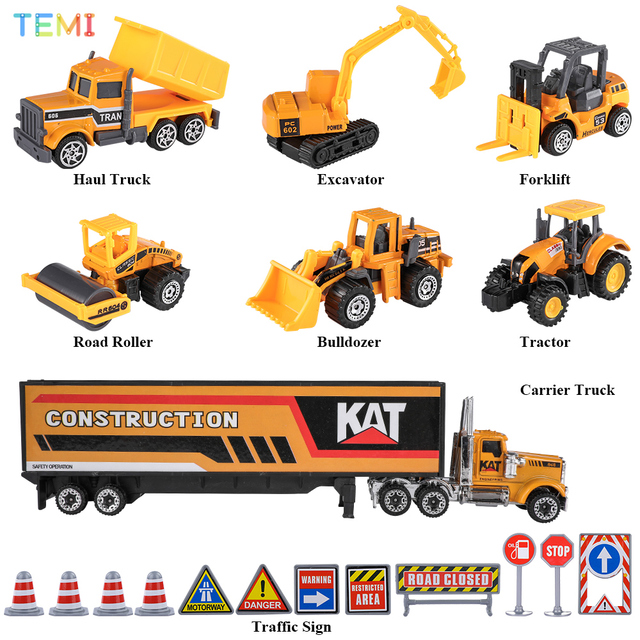 Diecast model Engineering tractor toy car 3 Police& Racing Fire truck Educational Toys trucks for boys children 2 to 4 years old 2