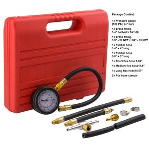 Image 3 - 0 100 Psi Gasoline Engine Compression Gauge Tester Automobile Petrol Gas Engine Cylinder Pressure Test Tool Kits