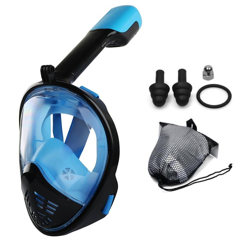 Diving Mask Silica gel Scuba Underwater Anti Fog Full Face Snorkeling Women Men Swimming Snorkel Equipment