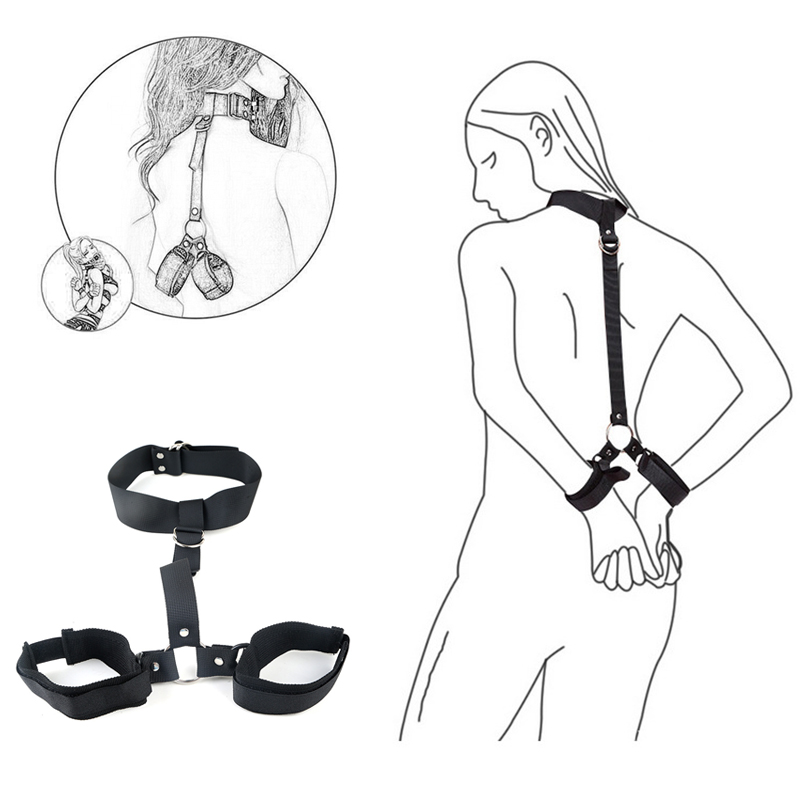 Sexy Handcuffs Collar Adult Games Fetish Flirting Bdsm Sex Bondage Rope Slave Sex Toys For Woman Couples Gay Erotic Accessories