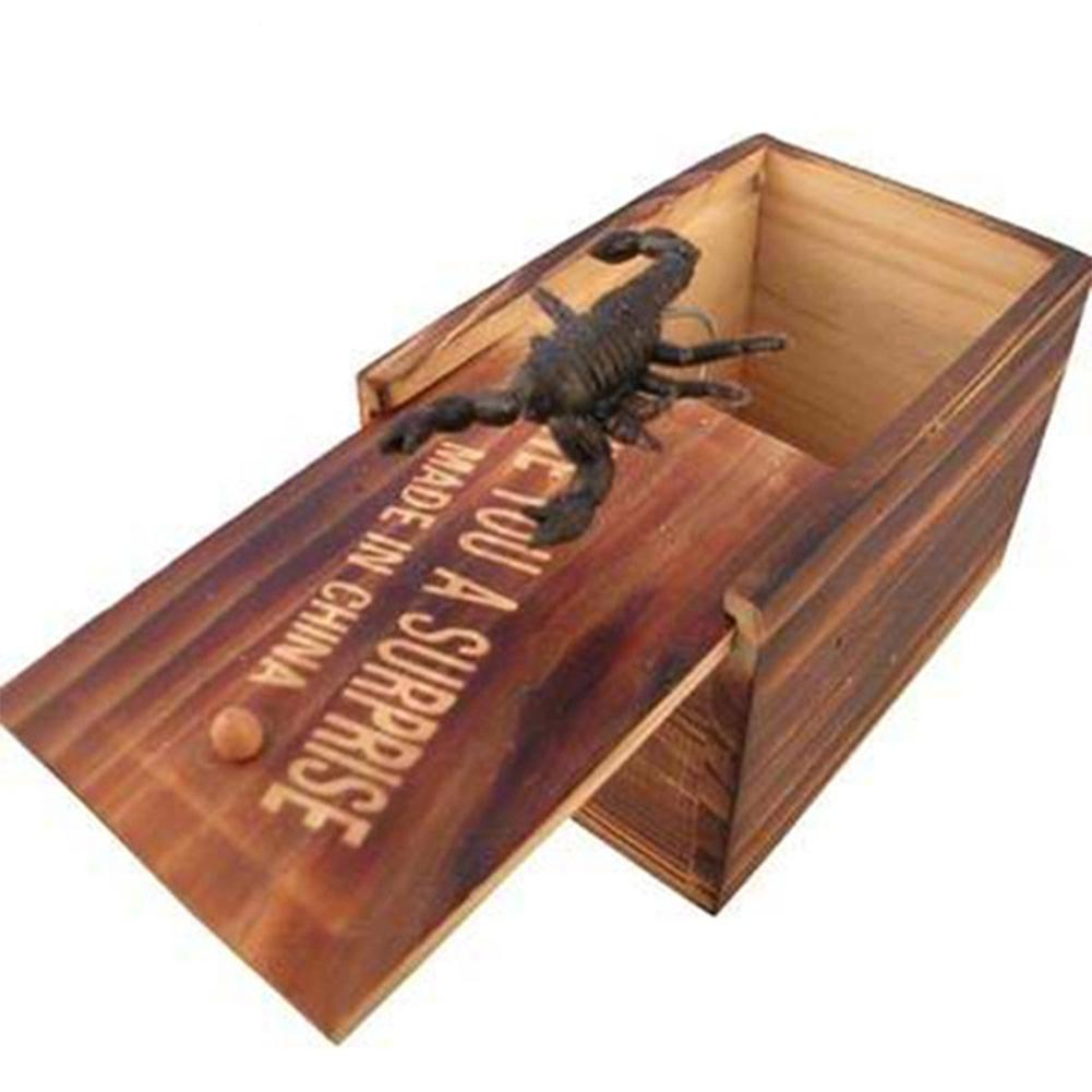 Kuulee Surprise Animals Bite In Wooden Box Gag Gift Practical Funny Joke Prank Toy