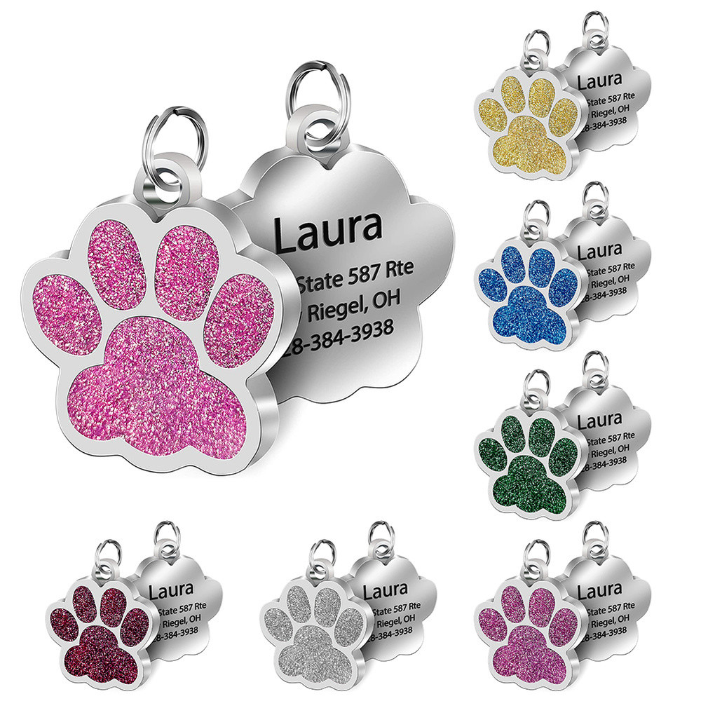 Personalized Pet ID Tags Engraved Pet Name Number Address Cat Dog Collar Pet Pendant Puppy Cat Necklace Charm Collar Accessories
