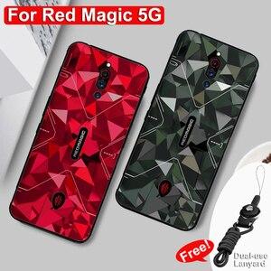 Capa de camuflagem para zte nubia, capa vermelha 5g de proteção traseira, fina, fosca, redmagic 5g nubia capa vermelha mágica 5g