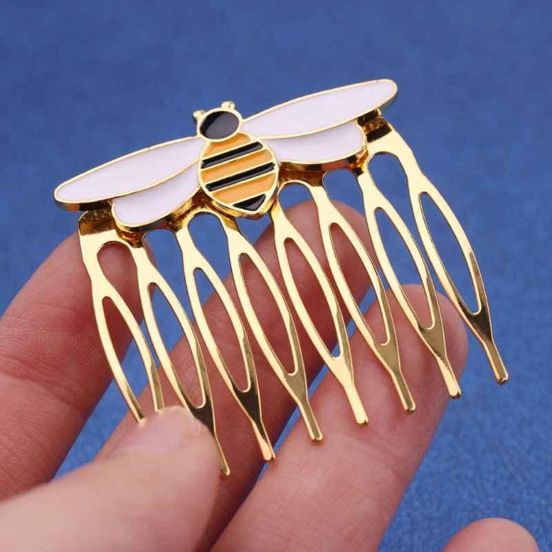 ผู้หญิง hairpins มหัศจรรย์ Bee หวีทองผมหวี Ladybug PARTY อุปกรณ์สัตว์เคลือบผมเครื่องประดับเครื่องแต่งกาย