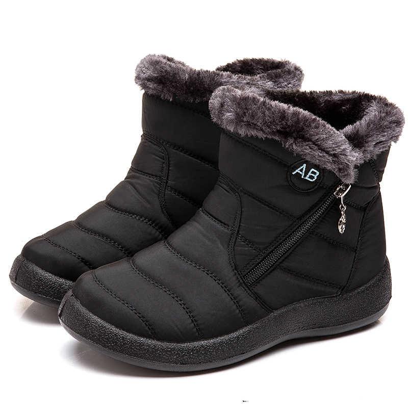 Frauen Stiefel 2019 Winter Stiefel Mit Stepp Ankle Botas Mujer Warm Wasserdichte Schnee Stiefel Winter Schuhe Frau Botines Plus Größe 43
