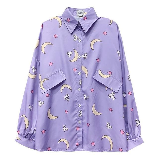 Korean Style Women Shirts Kawaii Autumn Fashion JK Uniform Blouses Women Long Sleeve Cute Loose Button Up Shirt Oversized Tops 5