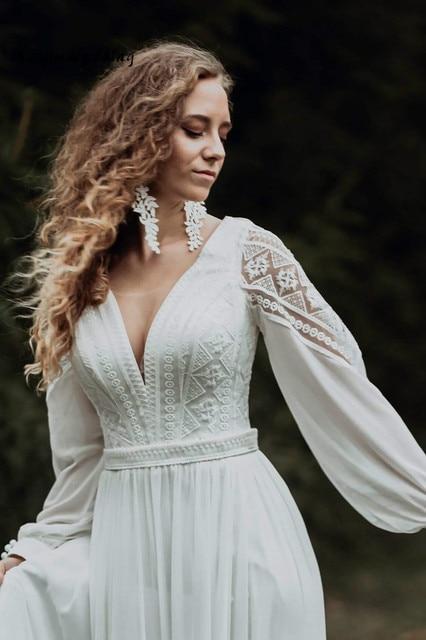 Simple Civil Boho Wedding Dress 3