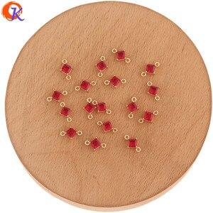 Image 5 - Hartelijke Ontwerp 100Pcs 7*11Mm Sieraden Accessoires/Hand Gemaakt/Crystal Oorbellen Connectoren/Sqaure Vorm/Diy Maken/Earring Bevindingen