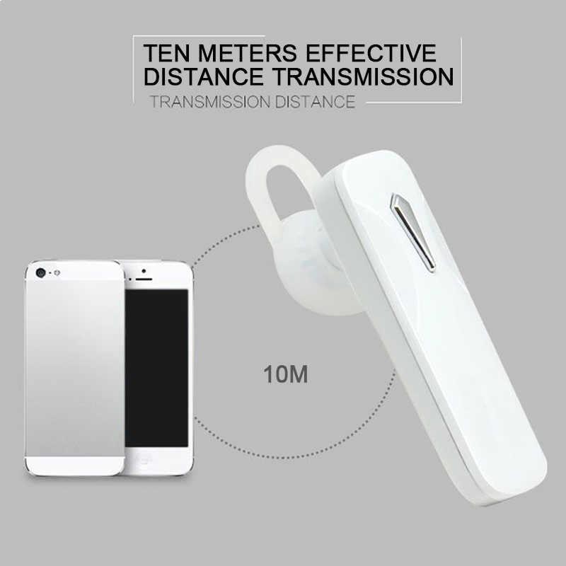 M163 Bluetooth Earphone Universal Nirkabel Earphone Mini Speaker Mini Bluetooth Headset Handsfree dengan MIC untuk Smart Phone (N0325)