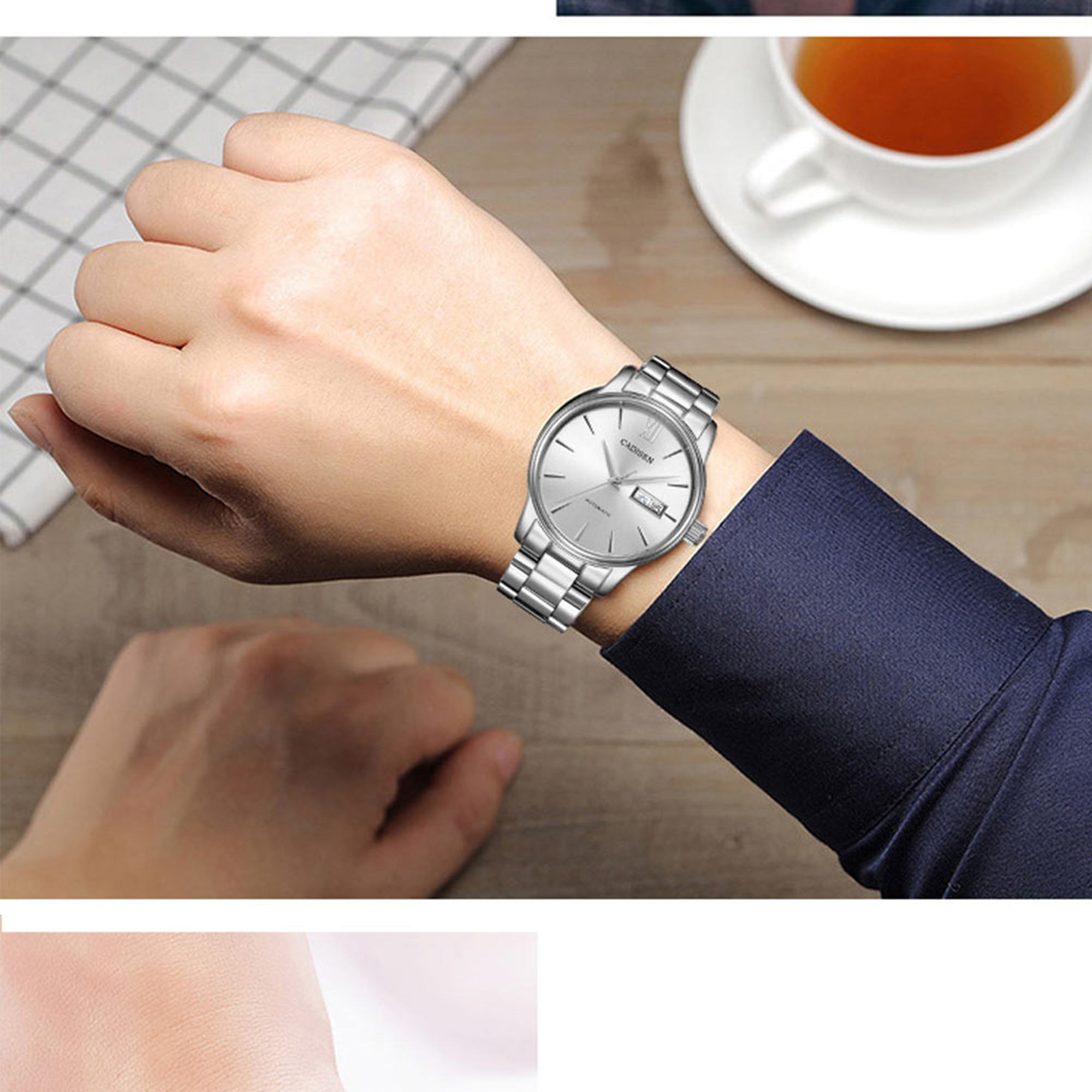 H509b760e755144dab325e1dcb8fd5bdfV CADISEN Men Watch Automatic Mechanical Watches Role Date Week Top Luxury Brand Japan NH36A Wrist watch Clock Relogio Masculino