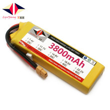 LYNYOUNG Rechargeable lipo battery 3800mAh 7.4V 25C 2S for RC Car Helicopter Glider Quadrotor 1 pcs lion power lipo battery 2s 7 4v 1500mah 25c max 35c fast charging rc lipo battery for rc boat helicopter