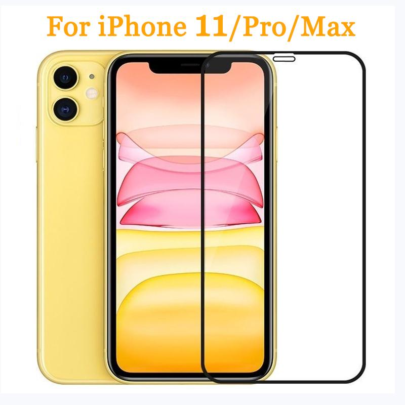 9D Full Cover Tempered Glass For iPhone 11 Pro Max Glass X XS Max XR Screen