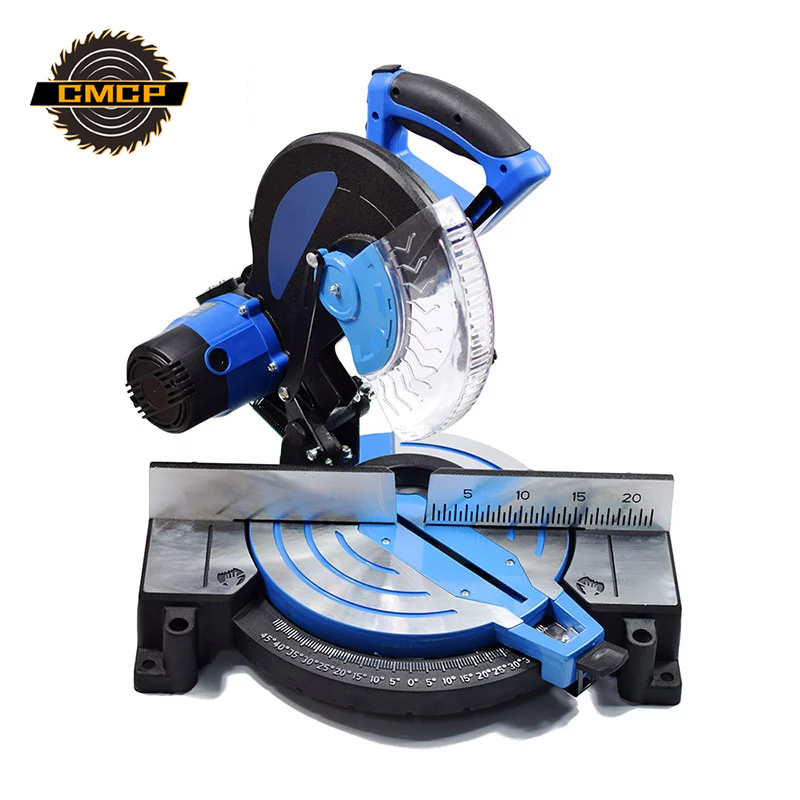10'' 2600W Aluminum Cutting Machine 45 Degrees High Precision DIY Compound Mitre Saw for Metal/Wood Multi-Purpose Sliding Mitre