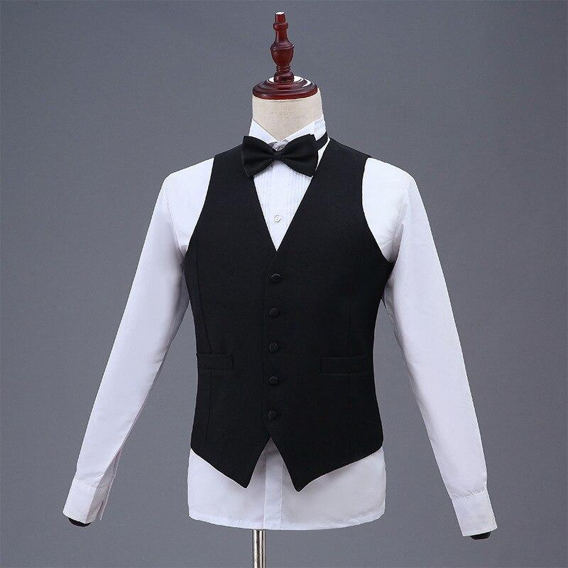 2019 New Style Men Performance Waistcoat Men's Host Master Of Ceremonies Waistcoat Korean-style Slim Fit Marriage Suit Waistcoat