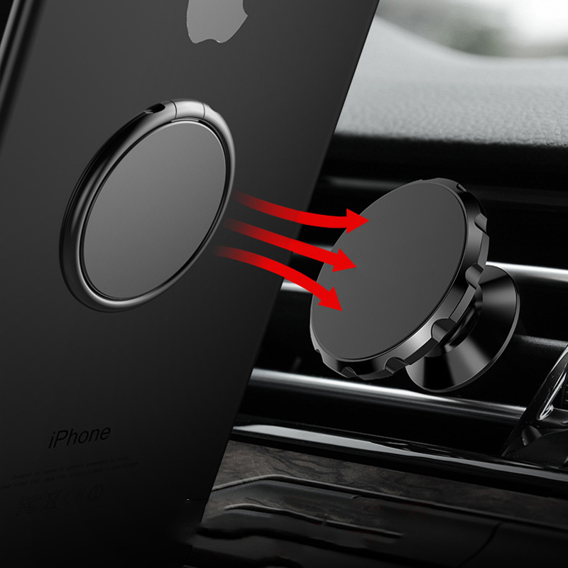 Luxury metal Mobile Phone Ring Holder Telephone Cellular Support Accessories Magnetic Car Bracket Socket Stand for mobile phones 2
