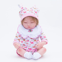 Doll Toy Reborn Baby Christmas Gift Reborn Kit Doll head Monster High Hands 55cm Reborn Baby Doll Clothes