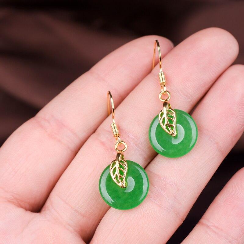 Нефритовые Каменщики нефритовые плоские серьги с застежкой из яшмы переносные серьги ювелирные изделия для ушей