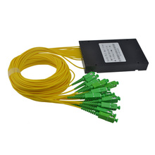 High Quality 1M SC APC 1X16 Fiber Optic splitter box  SC 1x16 PLC ABS optic splitter box Free shipping