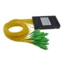 Yüksek kaliteli 1M SC APC 1X16 fiber optik sıyırıcı kutusu SC 1x16 PLC ABS optik sıyırıcı kutusu ücretsiz kargo