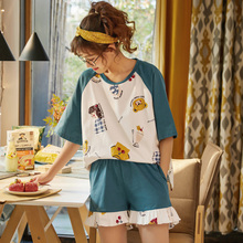 Cute Print Sleepshirts Summer Girl's Nightdress 100% Cotton Nightgown Cartoon Plus Size Nightgown Girls Nightdress fox print nightdress