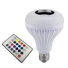Лампочка громкоговоритель портативный цветной мини смарт E27 беспроводной Bluetooth 4,0 КТВ аудио музыка игра подарок лампа
