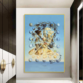 Famous Painting Salvador Dali Galatea Spheres Oil Painting Canvas Painting Wall Art for Living Room Home Decor (No Frame) 2
