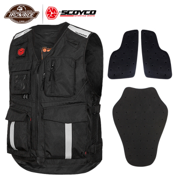 цена на SCOYCO Motorcycle Jacket Summer Mesh Reflective Vest Motorcycle Waistcoat Motocross Off-Road Racing Vest Protection